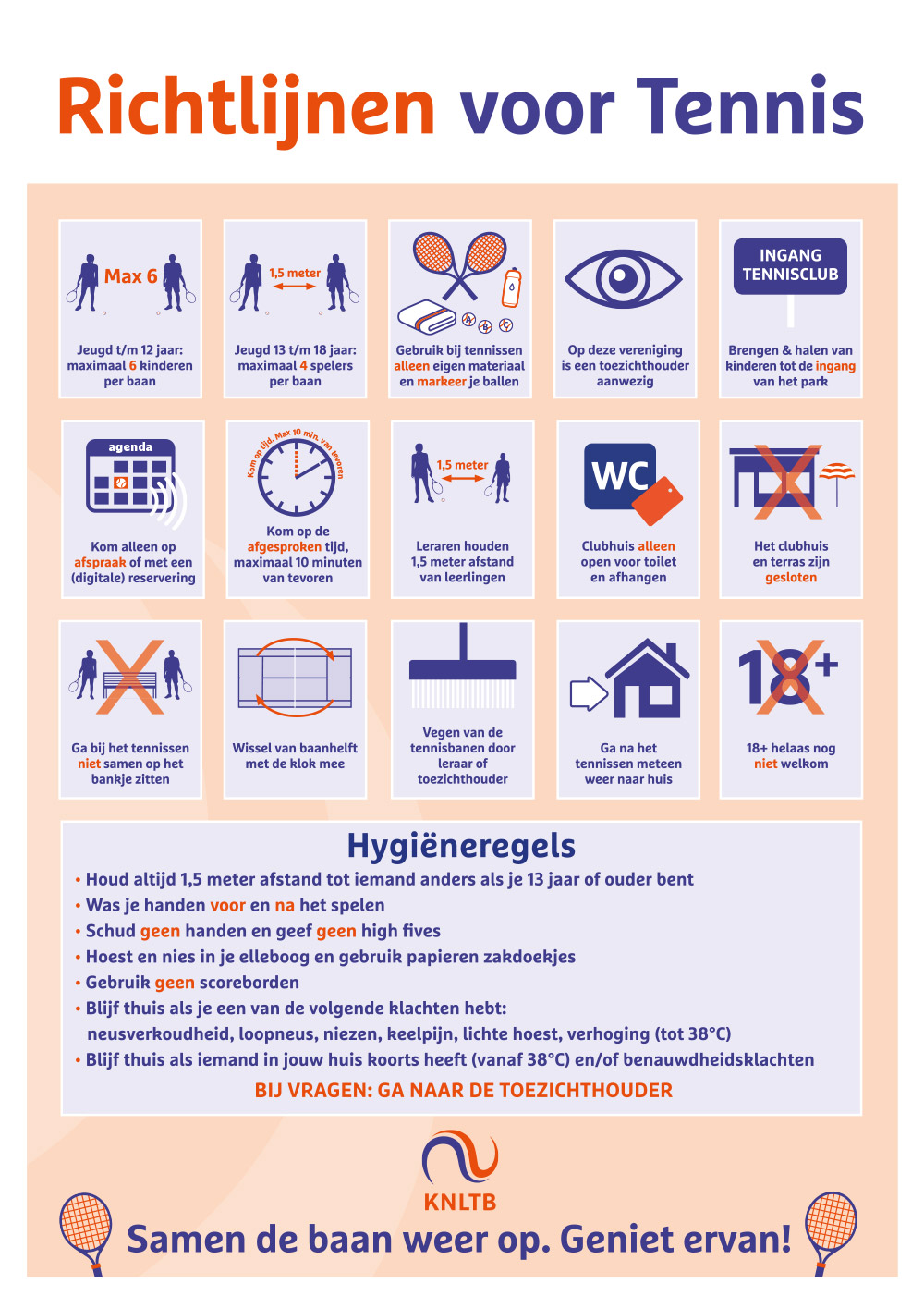 TVDidam KNLTB richtlijnen tennis