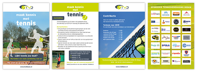TVDidam Maak kennis met tennis folder