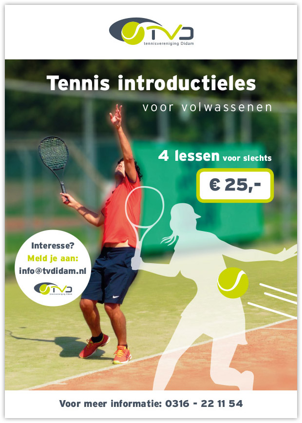 TVDidam tennisintroductieles volwassenen flyer